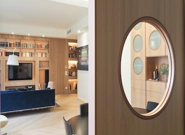 Mi0214 location conciliazione boiserie legno shooting video libreria parquet chiaro milano nonsololoft.jpg